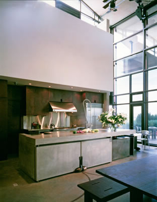 Interior Kitchen Design - Cooking Island Proportions Complement Scale of the Room